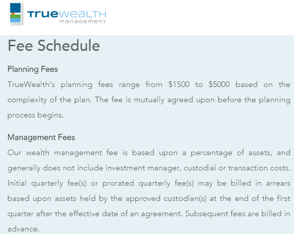 Truewealth -Wealth Management Fees-min