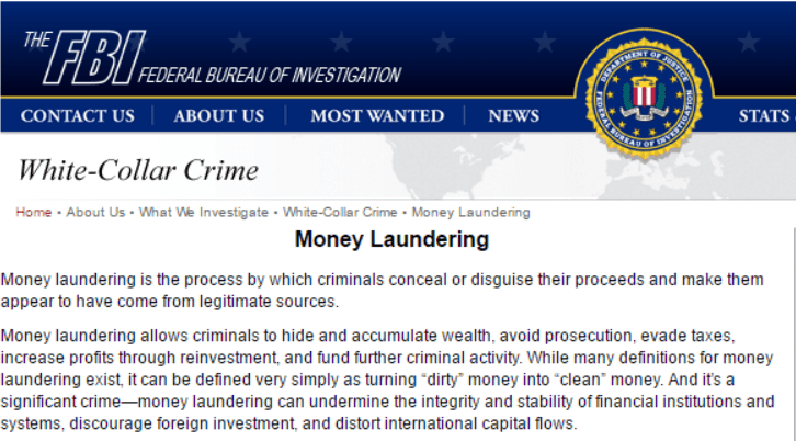money laundering essay