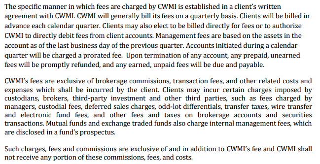 review of cabot wealth management fees 2
