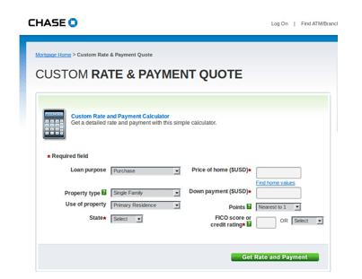 chase bank mortgage payoff calculator