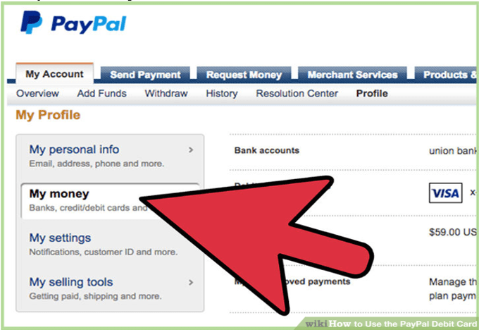 send money credit card to paypal