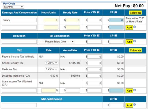top 6 best online payroll calculators