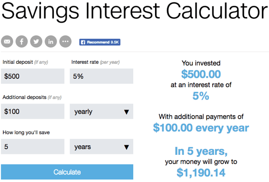 Top 6 Best Savings Interest Calculators   2017 Ranking   Savings ...