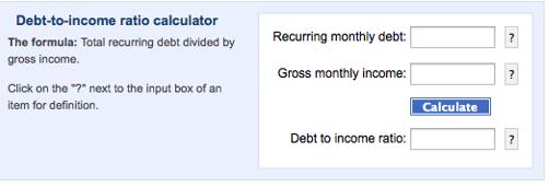 Ce qui est inclus dans le ratio dette sur le revenu
