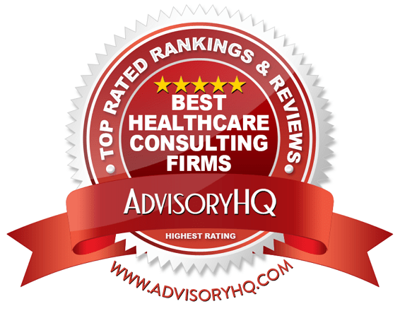 Best Healthcare Consulting Firms Red Award Emblem