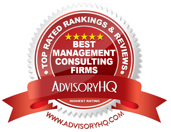 Best Management Consulting Firms Red Award Emblem