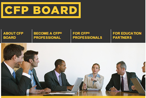 a screenshot from the CFP Board website showing six financial planners discussing in a room over a wood table representing tips on passing the certified financial planner (CFP) exam. Sourced from cfp.net