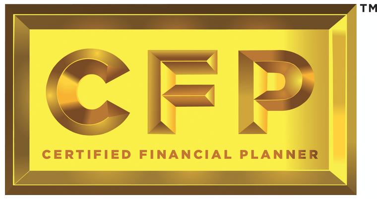 a gold CFP (Certified Financial Planner) logo sourced from cfp.net