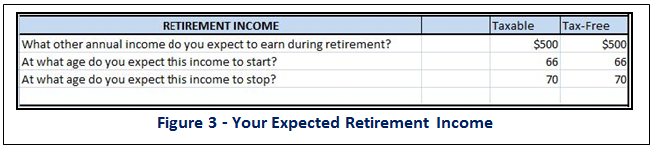 Earnings in Retirement - Your Expected Retirement Income