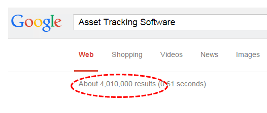 Google Search for keyword Asset Tracking Software