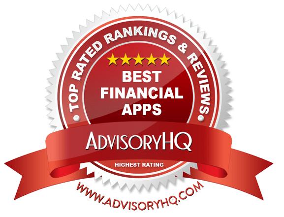 Red Award Emblem for Best Financial App Red Award Emblem