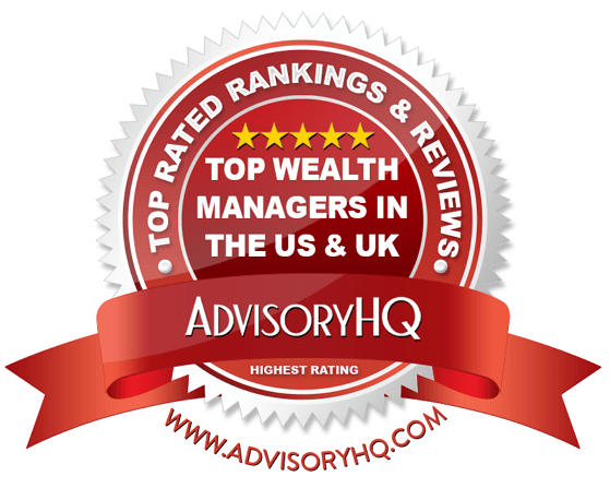 Top Wealth Managers in the US & UK Red Award Emblem