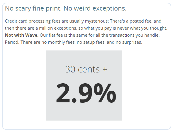 Wave Payment Fees