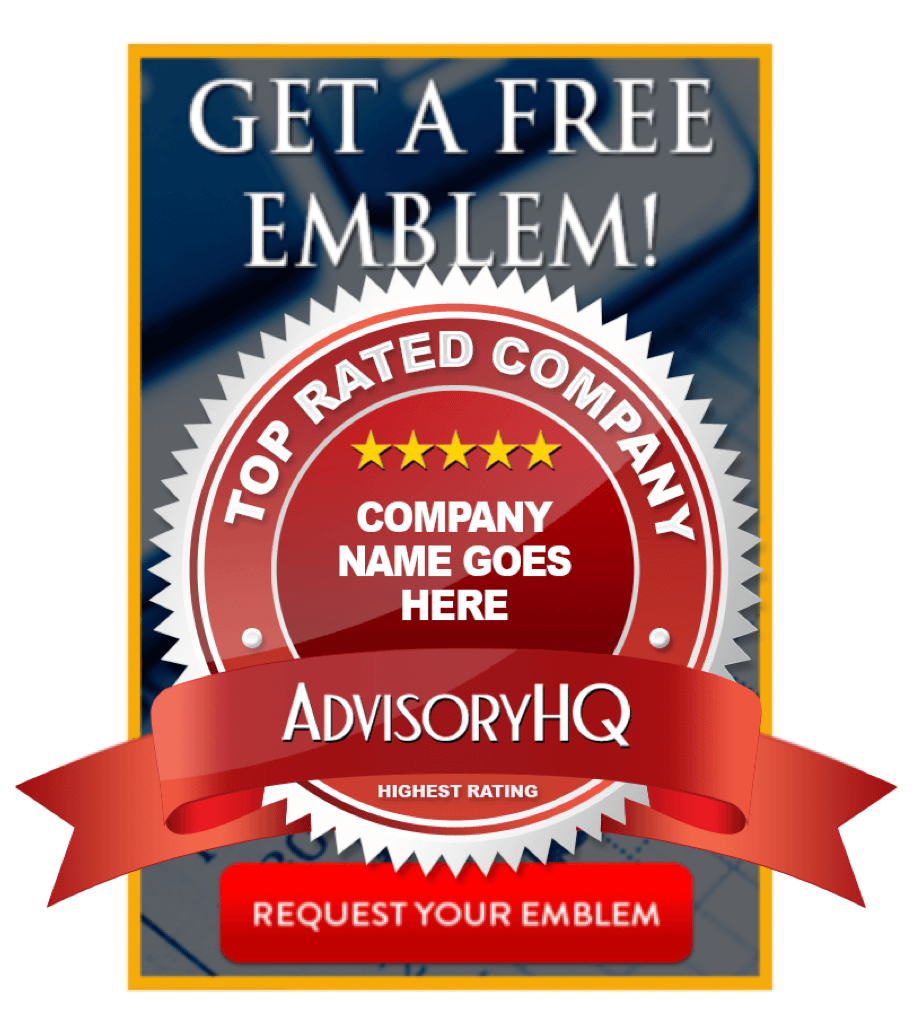 AdvisoryHQ's Request an Award Emblem Banner