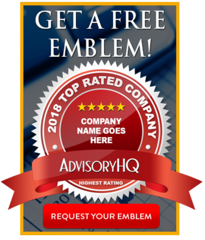 AdvisoryHQ's Request an Award Emblem Logo