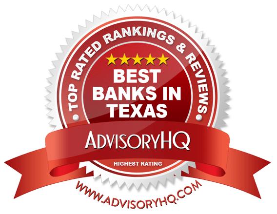 Best Banks in Texas Red Award Emblem