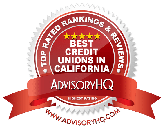 Best Credit Unions in California Red Award Emblem