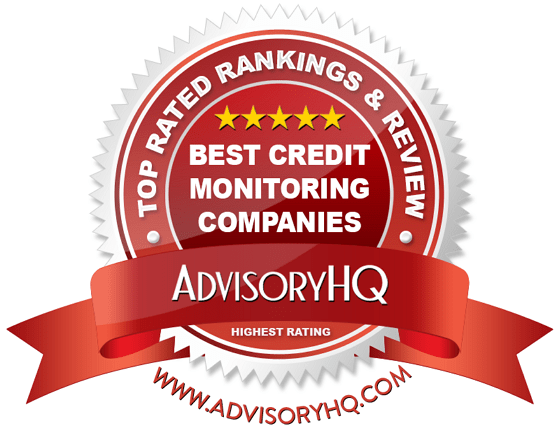 Best Credit Monitoring Companies Red Award Emblem