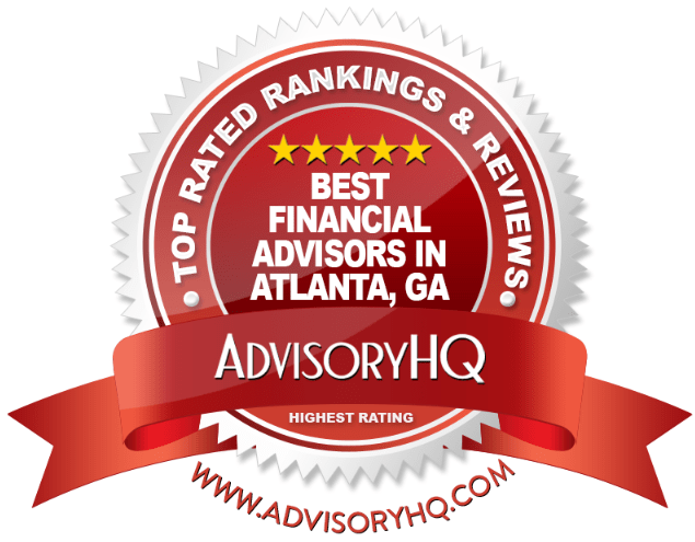 Best Financial Advisors in Atlanta, GA Red Award Emblem