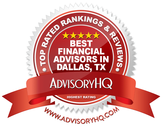 Best Financial Advisors in Dallas, TX Red Award Emblem
