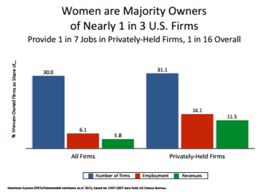 chart - women-owned businesses grants on the rise - get a loan for your business