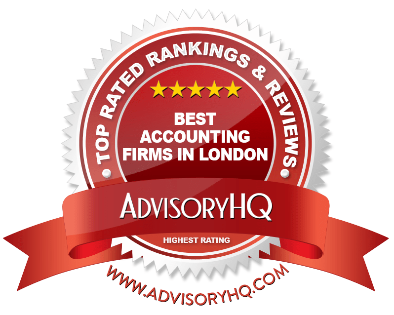 Red Award Emblem for Best Accounting Firms In London