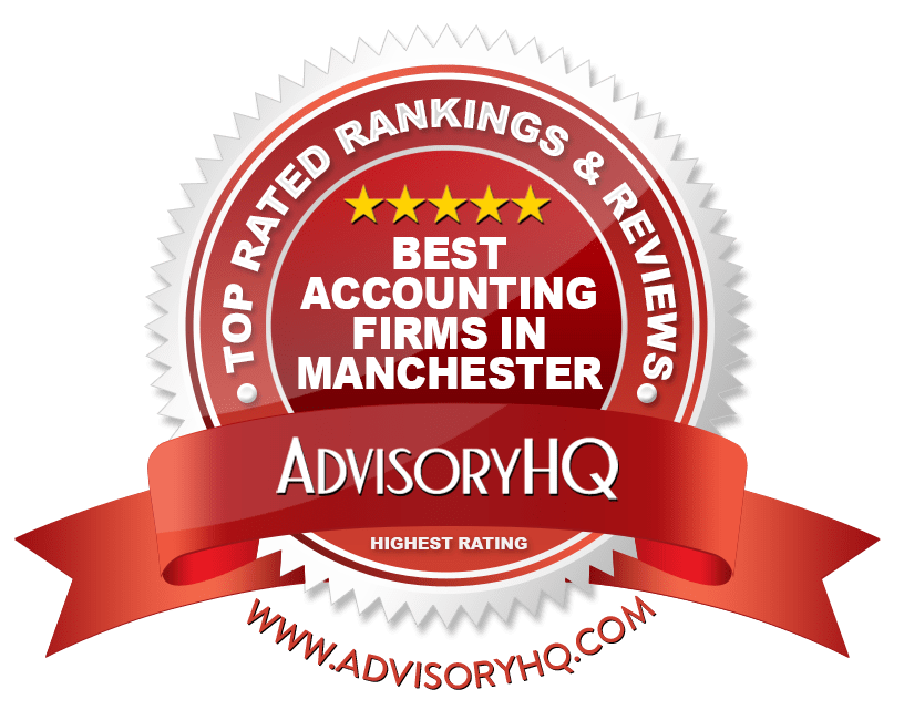 Red Award Emblem for Best Accounting Firms in Manchester