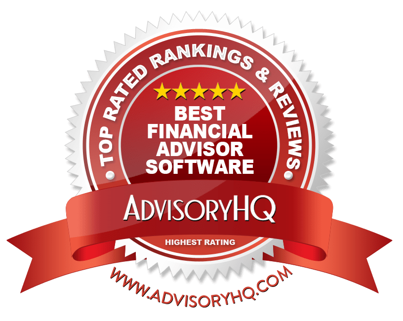 Best Financial Advisor Software Red Award Emblem