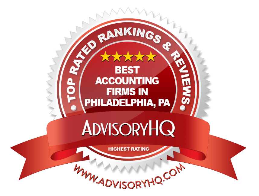 Best Accounting Firms in Philadelphia PA Red Award Emblem