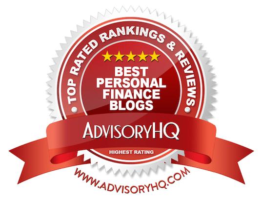 Best Personal Finance Blogs Red Award Emblem