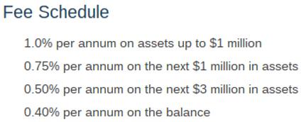 Cypress Capital Management Fee Schedule-min
