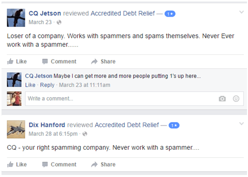 Accredited Debt Relief  facebook review-min