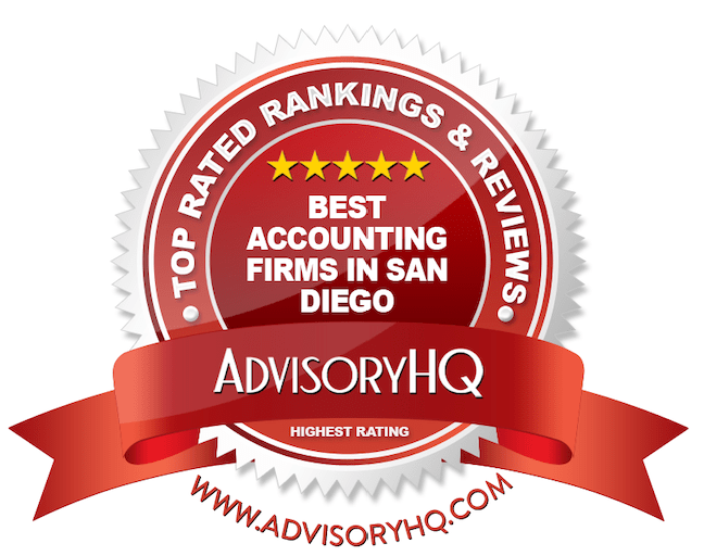 Best Accounting Firms in San Diego Red Award Emblem