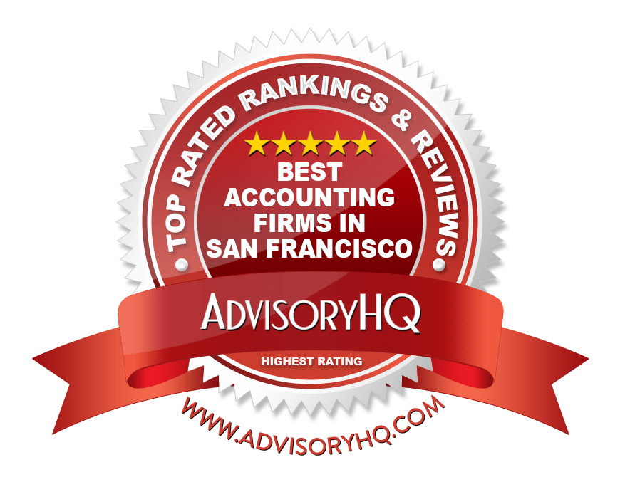 Best Accounting Firms in San Francisco, CA Red Award Emblem