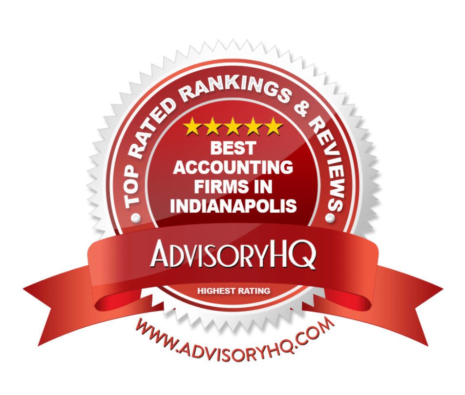 Best Accounting Firms in Indianapolis Red Award Emblem