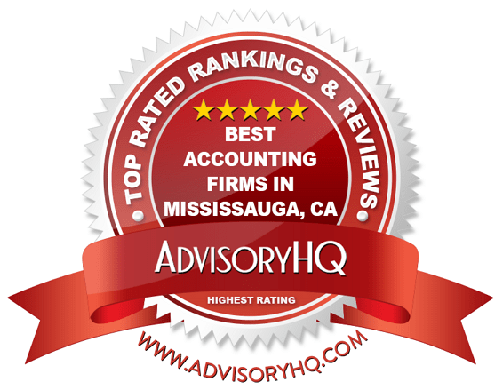 Best Accounting Firms in Mississauga, CA Red Award Emblem