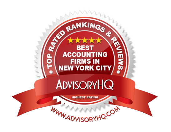 Best Acconting Firms in New York City Red Award Emblem