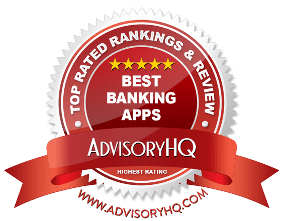 Best Banking Apps Red Award Emblem
