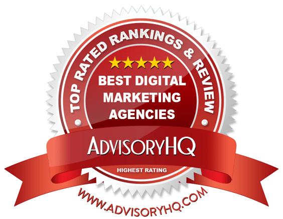 Best Digital Marketing Agencies Red Award Emblem