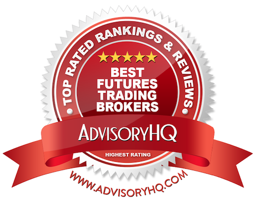 Best Future Trading Brokers Red Award Emblem