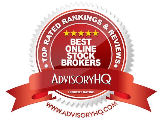 Best Online Stock Brokers Red Award Emblem