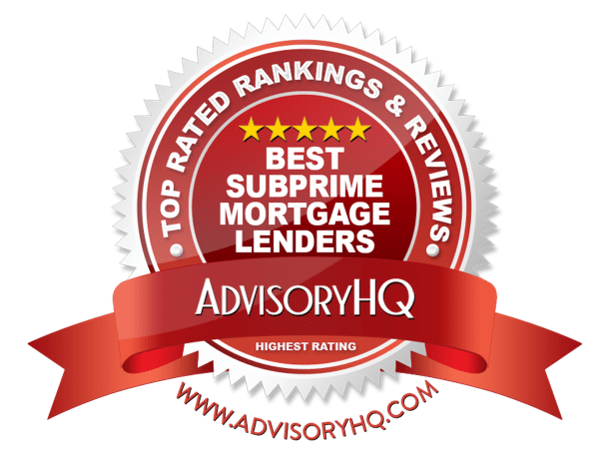 best subprime mortgage lenders red award emblem