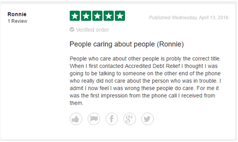 accredited debt relief customer reviews