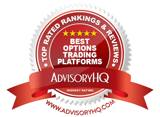 best options trading platforms red award emblem