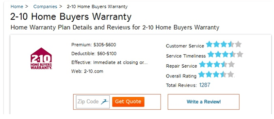 Top Rated Home Warranty Plans 2-10 home warranty reviews – what is a 2-10 home warranty