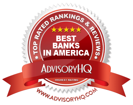 Best Banks in America Red Award Emblem