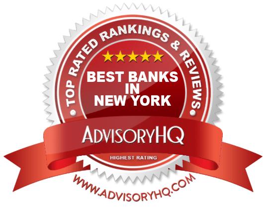 Best Banks in New York Red Award Emblem