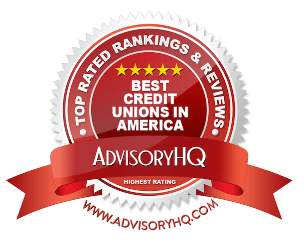 Best Credit Unions in America Red Award Emblem