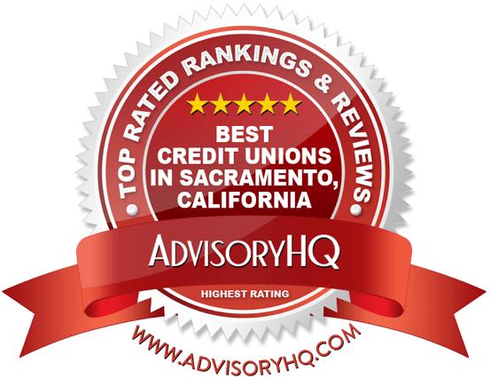 Best Credit Unions in Sacramento California Red Award Emblem