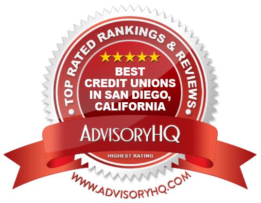 Best Credit Unions in San Diego, California Red Award Emblem
